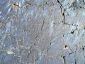 blue patina on lava rock
