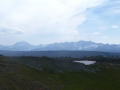 Panoramic view of mountains at the continental divide