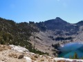 view down to Warbonnet Lake