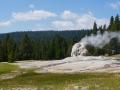 lone star geyser spewing steam